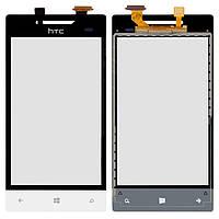 Сенсорный экран (touchscreen, тачскрин) для HTC A620e Windows Phone 8S, белый, оригинал