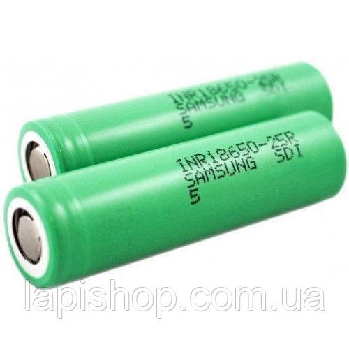 Батарея аккумулятор SAMSUNG 2000 mA/h 18650 4.2V, фото 1