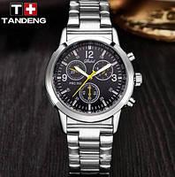 Мужские популярные наручные часы Geneva Silver Black
