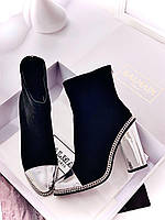 Женские кожаные ботинки Balmain (реплика), фото 1