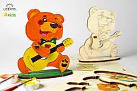 3D модель-розмальовка «Ведмедик»,UGEARS