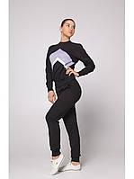 Спортивный костюм женский Go Fitness black-grey