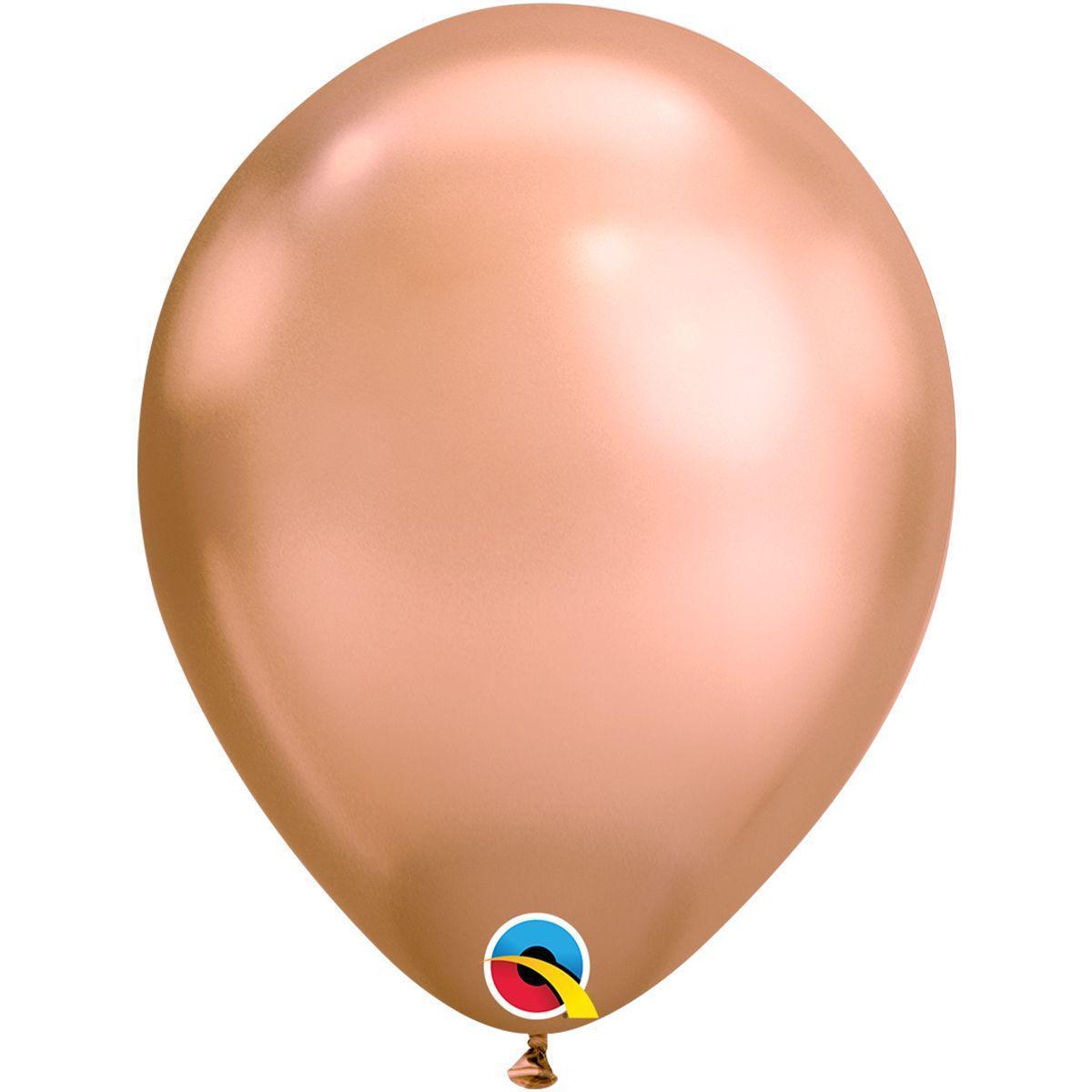 Шар хром золото chrome розовое золото 30 см