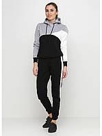 Спортивный костюм женский Go Fitness black-grey-white