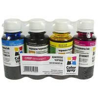 Чернила ColorWay Epson L100/L200 (4х100) BK/С/M/Y (CW-EU100SET01)