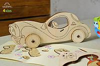 3D модель-розмальовка «Автомобіль»,UGEARS