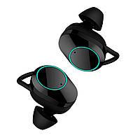Беспроводная гарнитура KUMI T3S Black Bluetooth 5.0 влагозащищенная сенсорная с зарядным кейсом 3, КОД: 1236588