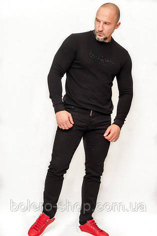 Свитшот мужской черный, фото 2