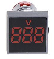 Вольтметр переменного тока AC 22мм 20-500В - красный