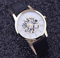 Мужские стильные популярные часы скелетон