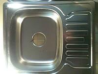 Кухонная мойка 48х58 квадратная с полкой