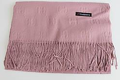 Кашемировый шарф палантин в клетку 141-3