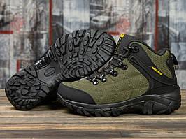 Зимние кроссовки  на меху Merrell Waterproof, хаки (31011) размеры в наличии ► [  36 37 38 39 40 41  ]
