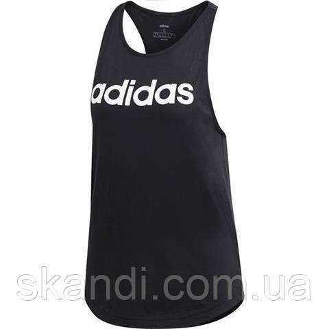 Футболка женская adidas W Essentials Linear Loose Tank черная DU7003