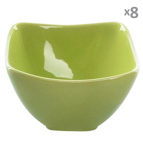 Посудина для жульєна кераміка 8шт/наб салатові