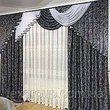 Комплект готовых штор с ламбрекеном №390, фото 2