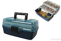 Ящик рыболовный 2 полки AQUATECH 1702Т (прозрачная крышка), товары для рыбалки