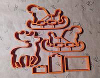 """Набор вырубок """"3D Санки с оленем"""""""