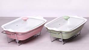 Мармит Kamille Food Warmer керамическая цветная форма 2.3л 38см с подогревом