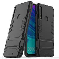 Чехол Hybrid case для Honor 9X бампер с подставкой черный