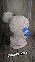 Комплект для девочки (шапка + хомут) Agbo 2104 Tewor K-16, фото 3