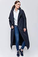 Пальто женское зима размер 50 цвет  темно - синий
