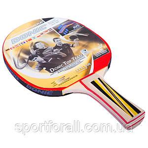 Ракетка для настільного тенісу 1 штука DONIC LEVEL 500 TOP TEAM (Безкоштовна доставка)