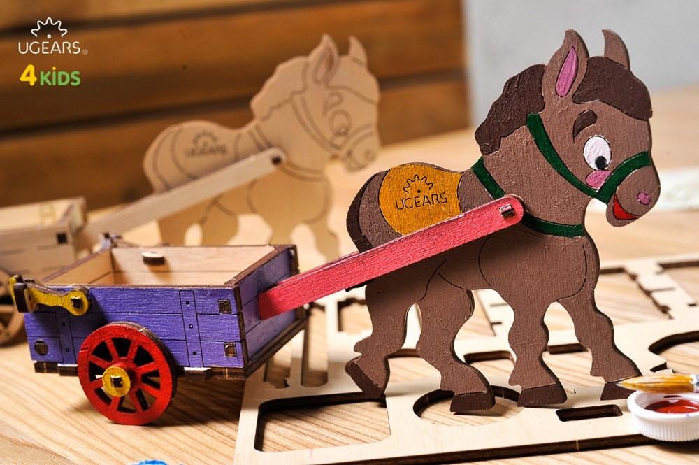 3D модель-розмальовка   «Віслючок»  ,UGEARS