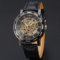 Мужские стильные механические часы Winner Skeleton
