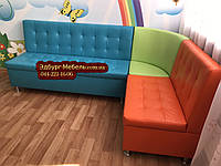 Угловой диван для детского сада Квадро 3 части 200х150см
