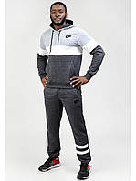 Мужской спортивный костюм Go Fitness grey-white