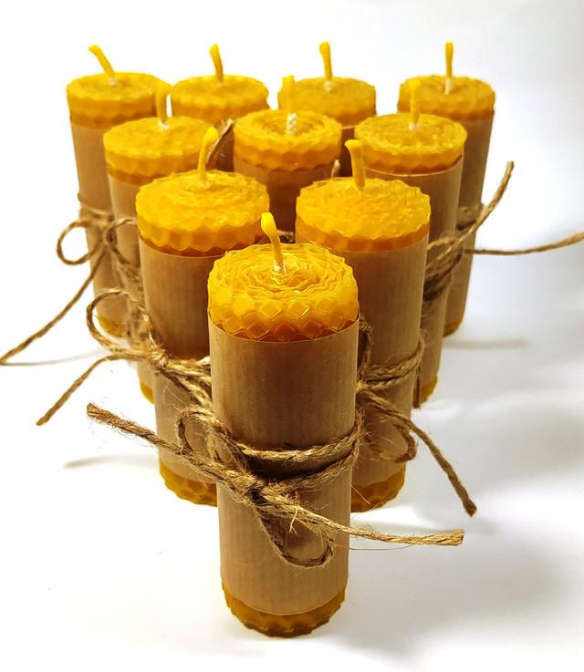 Свечка з вощини ручної роботи апимаг апімаг apimag
