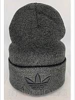 Шапка в стиле Adidas Серая