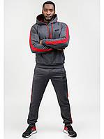 Мужской спортивный костюм Go Fitness grey-red