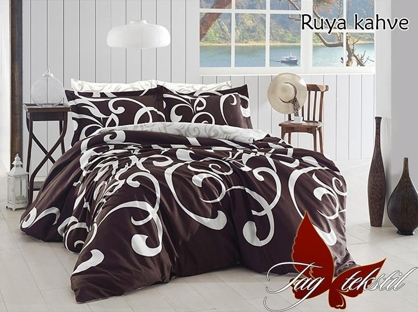 Полуторный. Комплект постельного белья с компаньоном Ruya kahve