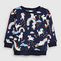 Кофта для девочки Единороги в облаках Little Maven