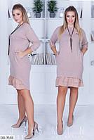 Платье трикотажное свободное в расцветках DB-9588