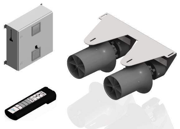 Противоток для бассейна HydroStar BGA Double 320 в крепеже components