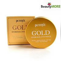 Гидрогелевые патчи с золотым комплексом +5 Petitfee Gold Eye Patch