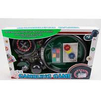 88130B Настольная игра 88130B (24шт) покер, рулетка, фишки, полотно, кубики, в кор-ке, 51-32-6см