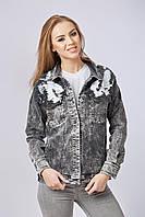 Mila Nova Джинсовая куртка-жакет Q-29 Черная