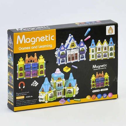 908 Конструктор магнитный Замок 60 деталей, в коробке, фото 2