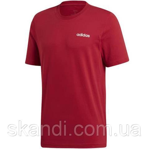 Футболка мужская adidas Essentials Plain Tee бордовая EI9780