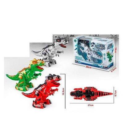 888-2 Динозавр 888-2 (60шт) 27,5см, звук,свет, ходит, 3цв, на бат-ке, в кор-ке, 28-19,5-9,5см, фото 2