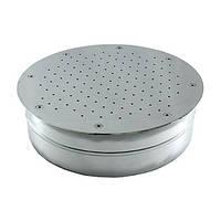 Гейзер круглый  диаметр 420 мм, под плитку из нержавеющей стали, фото 1
