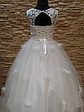 Платье детское нарядное белое с фатиновой юбкой на 7-10 лет, фото 2