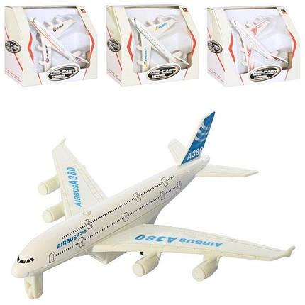 8811 Самолет мет., инерц., 4 вида, кор., 15-13-7 см, фото 2