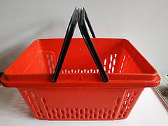 Пластиковые корзинки для магазина, супермаркета, корзинки покупательские б/у