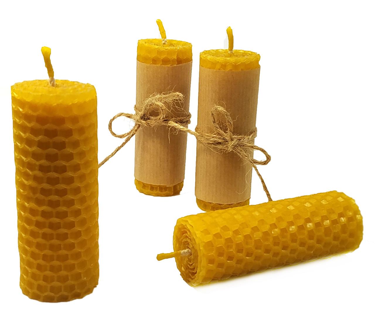 Свічки із вощини катані ручної роботи