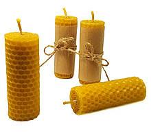 Свечи из вощины катаные ручной работы